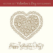 Happy valentine's day heart. — Vector de stock