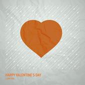 Torn paper heart. — Stock Vector