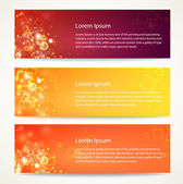 Abstract banner with bokeh lights. — Stock Vector