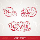Red wine text — Stock Vector