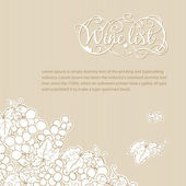 Wine list cover — Stock Vector