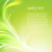 Abstraktní hladké zelené čáry. — Stock vektor