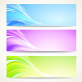 Abstract banners set. — Stock Vector