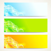 DNA banners set. — Stock Vector
