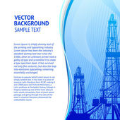 Oil rig banner for your text. — Stock Vector