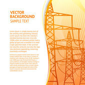Electricity pylons — Stock Vector