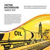Oil transportation. — Stock Vector