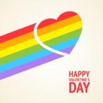 Rainbow heart — Stock Vector