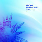 Ropné plošiny — Stock vektor