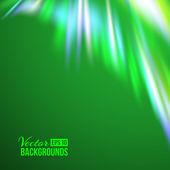 Green northern lights. — Stock Vector
