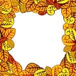 Orange leaves background — Stock Vector
