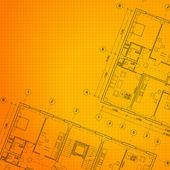 Architectural orange background. — Stock Vector