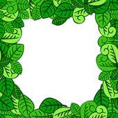 Fresh green leaves — Stock Vector