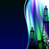 Oil derrick banner. — Stock Photo