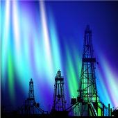 Oil derrick background. — Stock Photo