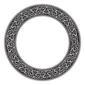 Circle ornamental decorative frame — Stock Photo