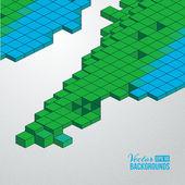 Sfondo di cubi — Vettoriale Stock