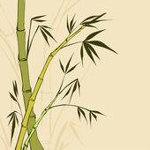 竹の絵 — ストックベクタ