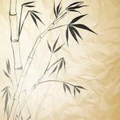 Grunge manchado el papel de bambú — Vector de stock