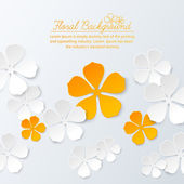 Paper floral background with place for text — Stock Vector