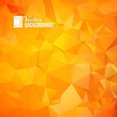 Orange triangle — Stock Vector