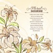 Royalty-Free Stock Vectorielle: Brown background with blooming lilies