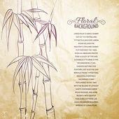 Hojas de bambú. — Vector de stock