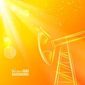 Oil pump. — Stock Vector