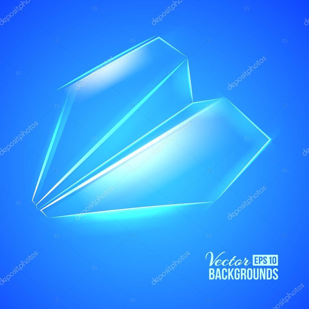 纸飞机折纸.矢量插画