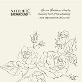 Silhouette of rose. Vector illustration. — Stock Vector