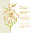 Lily flower background. Vector illustration — Stock Vector #24763213