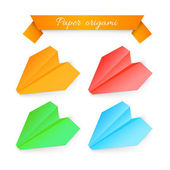 Paper airplane origami. Vector illustration — Stock Vector