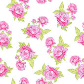 Rose seamless background — Stock vektor