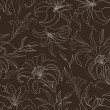 Seamless pattern with blooming lilies — Stock vektor