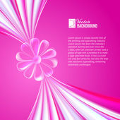 Abstract violet glass flower. — Stock Vector