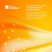 Abstract orange tiles background. — Stock Vector