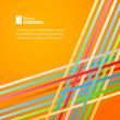 Rainbow lines over orange background. — Vecteur #26445125