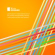 Stockvector : Rainbow lines over orange background.