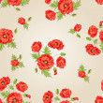 Pattern of poppy flowers. — Stock Vector