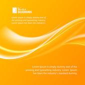 Abstract orange wind. — Stock Vector