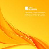 Orange smoke on yellow background. — Stock Vector