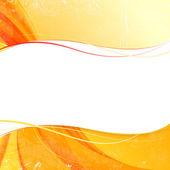 Przykryć pomarańczowy dym na żółtym tle. — Wektor stockowy