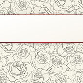 Rose seamless background. — Vector de stock