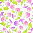 Bindweed flower seamless pattern. — Stock Vector