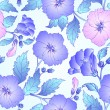 Seamless pattern with hibiscus. — Imagen vectorial