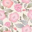 Seamless pattern with hibiscus. — Stok Vektör
