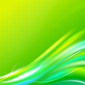 Parlak dalga arka plan. yeşil renk — Stok Vektör