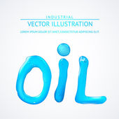 Oil liquid text. On a white background. — Stock Vector