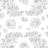 Beautiful seamless pattern of roses — Stock Vector
