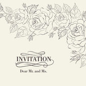 Isolation vintage frame from flowers roses — Stock Vector